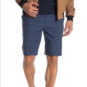 NWT Ezekiel Matty Checked Dark Blue Shorts Size 32